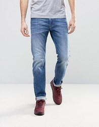 Diesel Buster Jean Regular Slim Fit Jean 0859R Mid Light Wash Bl1 Blue 1