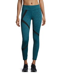Lanston Alex Paneled Performance Leggings Turquoise