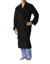 Polo Ralph Lauren Cotton Kimono Robe Black
