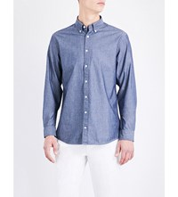 Tommy Hilfiger Regular Fit Cotton Chambray Shirt Indigo Cw Multi