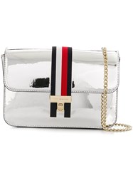 Tommy Hilfiger Metallic Crossbody Bag Silver
