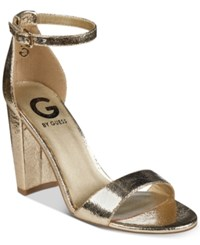 G By Guess Shantel Two Piece Sandals Women's Shoes Gold