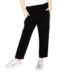 Rachel Roy Plus Mid Rise Track Pants Black