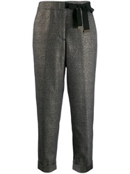 Peserico Bow Detail Trousers Black