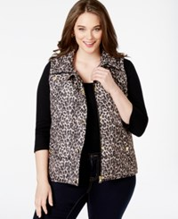 Styleandco. Style And Co. Sport Plus Size Leopard Print Zipper Vest Only At Macy's Neutral Combo
