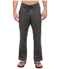 Prana Sutra Pant Black Herringbone Men's Casual Pants Gray