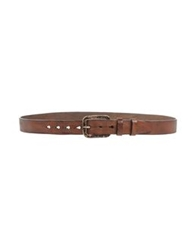 Dondup Belts Dark Brown