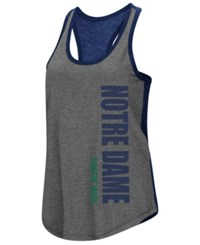Colosseum Notre Dame Fighting Irish Share It Racerback Tank Charcoal Navy