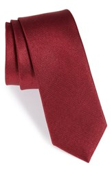 The Tie Bar Solid Silk Burgundy