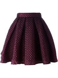 Daizy Shely Full Mini Skirt Red