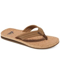 Quiksilver Men's Carver Cork Sandals Brown