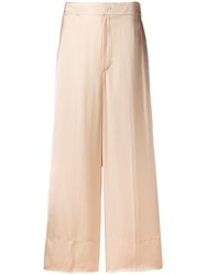 Helmut Lang Wide Leg Trousers Nude Neutrals
