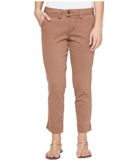 Jag Jeans Petite Creston Ankle Crop In Bay Twill Birds Nest Women's Casual Pants Brown