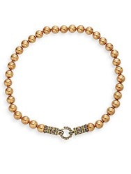 Heidi Daus Daily Single Crystal Beaded Necklace Gold Multi