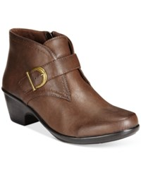 Easy Street Shoes Banks Ankle Booties Women's Brown