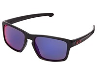 Oakley Sliver Matte Black W Red Iridium Sport Sunglasses