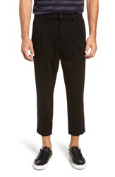 Hudson Jeans Pleated Cropped Pants Black