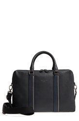 Ted Baker London Walave Leather Document Briefcase Black