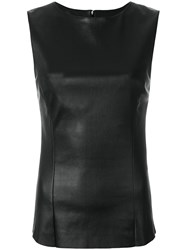 Drome Sleeveless Fitted Top Black