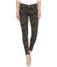 Hudson Nico Mid Rise Ankle Skinny In Infantry Camo Infantry Camo Women's Jeans Olive
