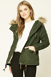 Forever 21 Faux Fur Trimmed Jacket
