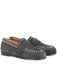 Isabel Marant Exclusive To Mytheresa.Com Fenzay Embellished Suede Loafers Grey