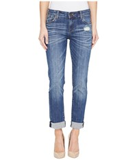 Kut From The Kloth Catherine Boyfriend In Doubtless Doubtless Medium Base Wash Women's Jeans Blue