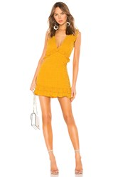 Lovers Friends Georgine Mini Dress Mustard