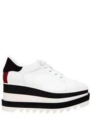 Stella Mccartney 75Mm Elyse Faux Leather Wedge Sneakers