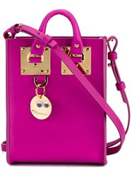 Sophie Hulme Micro 'Albion' Crossbody Bag Pink And Purple
