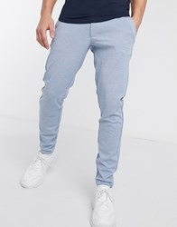 Only And Sons Slim Tapered Fit Trousers In Light Blue