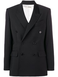 Zadig And Voltaire Fashion Show Double Breasted Blazer Black