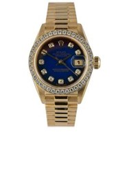 Rolex Vintage 18K Yellow Gold Datejust Watch With Degrade Gold One Colour