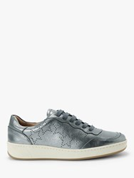 And Or Evalina Leather Trainers Silver