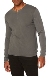 Threads For Thought Men's Standard Henley Quiet Shade
