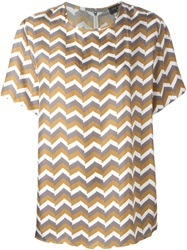 Rag And Bone Rag And Bone Chevron Print Blouse Brown