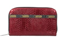 Le Sport Sac Lily Red Snake Checkbook Wallet