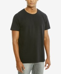 Kenneth Cole Reaction Men's Solid Cotton T Shirt Black