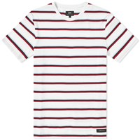 Edwin Wide Stripe Tee White
