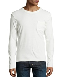 Ag Adriano Goldschmied Back Seam Crew Neck Shirt Ivory