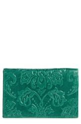 Hobo Women's Evan Leather Wallet Green