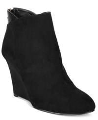 Thalia Sodi Lidiaa Wedge Booties Only At Macy's Women's Shoes Black