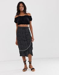 B.Young Dotty Wrap Skirt Multi