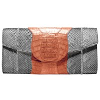 Khirma Eliazov Lindsay Clutch Grey And Orange