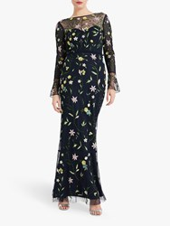 Phase Eight Collection 8 Mallory Embroidered Maxi Dress Navy Multi