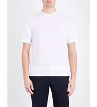 Joseph Silk Hem Cotton Jersey T Shirt White