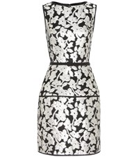 Oscar De La Renta Brocade Dress Black