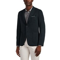 Isaia Cortina Brushed Jersey Two Button Sportcoat Green