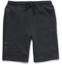 Nike Mesh Print Tech Fleece Shorts Gray