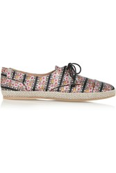 Tabitha Simmons Dolly Printed Silk Espadrilles Red
